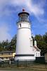 Umpqua River Lighthouse and modern barracks for Coast Guard station here.