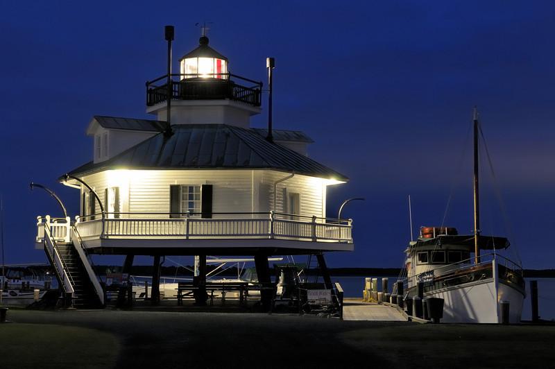 Hooper Strait Lighthouse at Chesapeake Maritime Museum