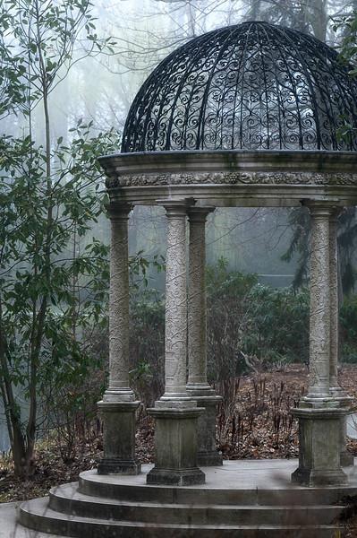 Love Temple in Fog