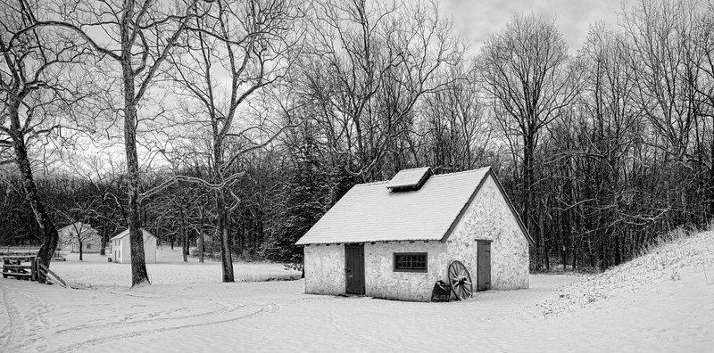Blacksmith Shop on a January Morning
