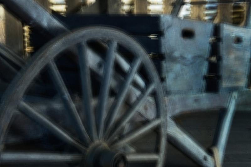 Wagon-wheel Cart Blur