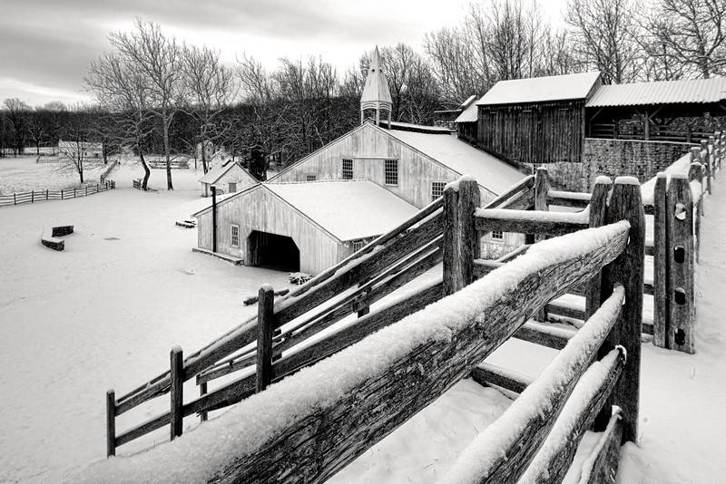 Hopewell Furnace Covered in Snow