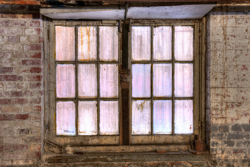 Lavender Basement Window