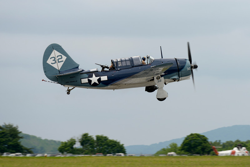 "CURTISS-WRIGHT SB2C-5 ""HELLDIVER"" (AKA ""BIG-TAILED BEAST"") ON TAKEOFF"