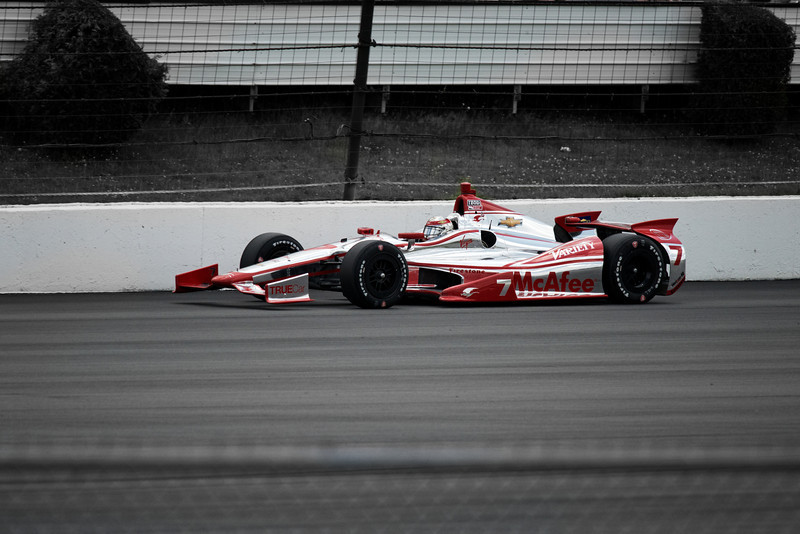 Sebastien Bourdais finished 16th in his Dragon-Chevrolet.