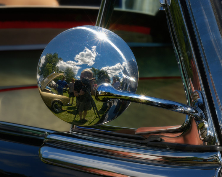 1953 Buick Skylark Convertible Coupe Side View Mirror Reflection View