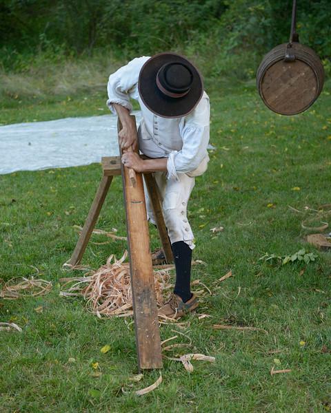 A Cooper Trims a Barrel Stave