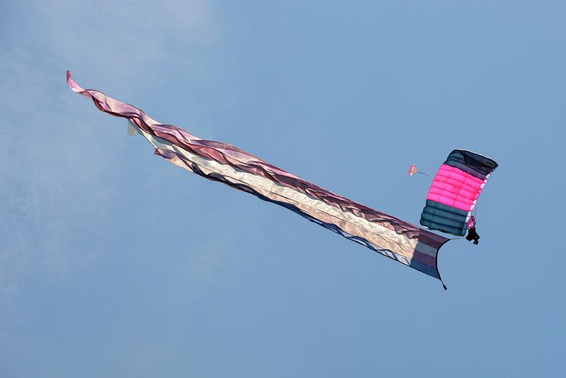 Misty Blue Skydiver