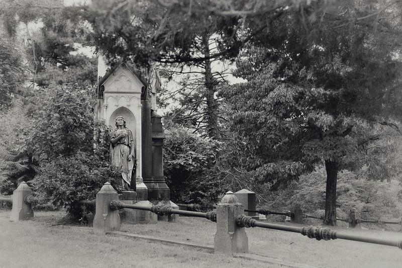 Side view of Owen Jones monument