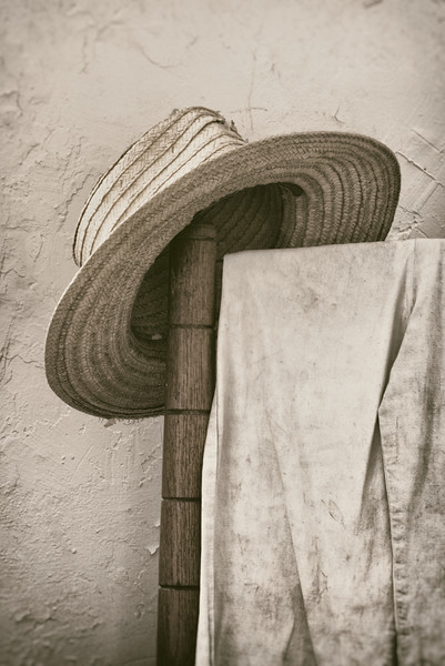 Straw Hat on Chair (2)