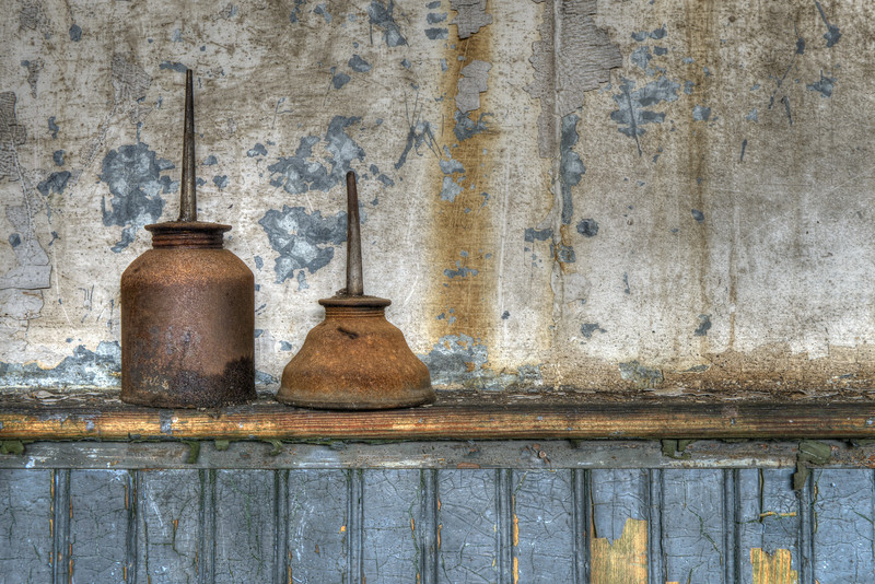 Oil Cans Still Life (color)