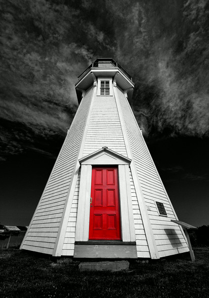 Red Door of Mulholland Point Light