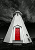 Red Door of Mulholland Point Light