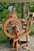 Spinning Flax into Linen