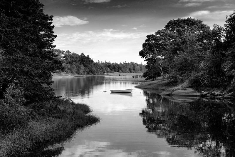 Ripley Creek in B&W
