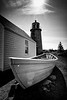 Dory at Monhegan Island Light