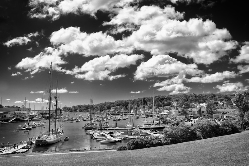 Camden Harbor with Puffy Clouds