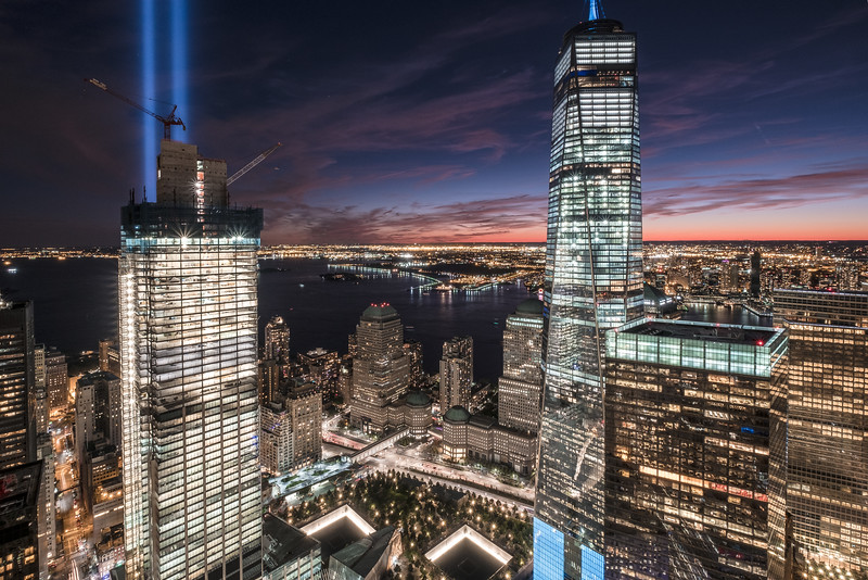 The Tribute in Light 2016 (9/11/2016) (30 Park Place)