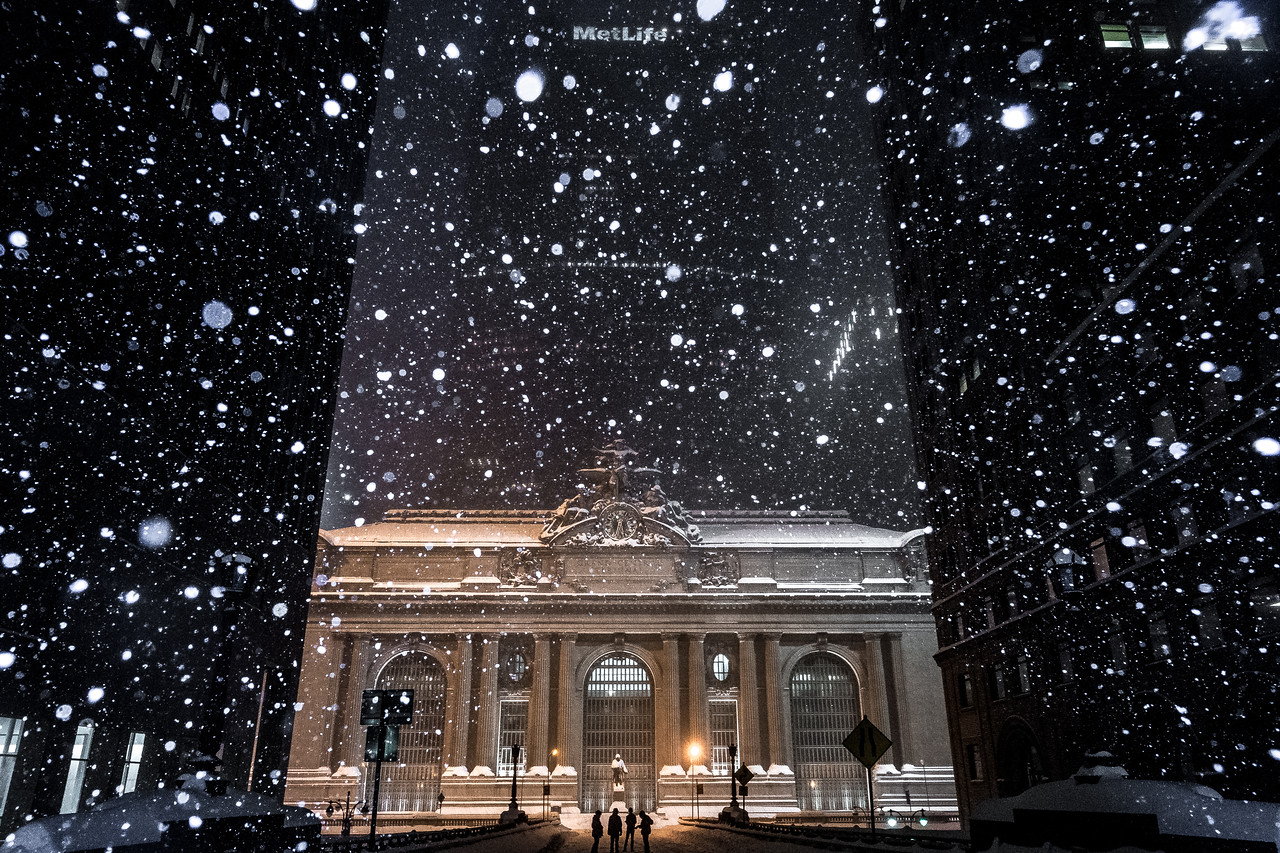 Grand Central Terminal During the 2016 Blizzard