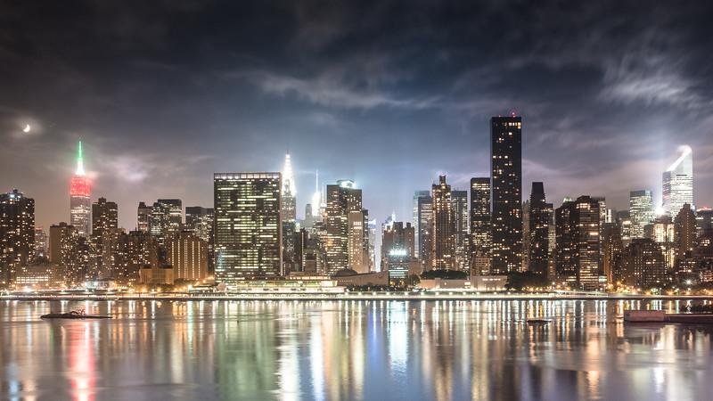 Midtown Manhattan under Moonlight