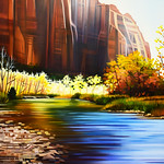 Reflections of Temple - Zion National Park, Utah