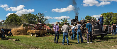 Threshing Wheat at the Old Threshers Reunion. 2nd place in Panorama prints, N4C, 2017.