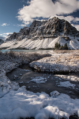 Mt Thompson at Bow Lake