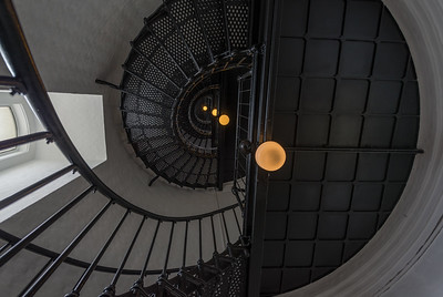 Stairway up, Yaquina Head Lighthouse
