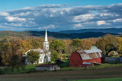 Peacham is a tiny town in Vermont. There is not much more there than the church, a barn, a few houses, and the volunteer fire department.