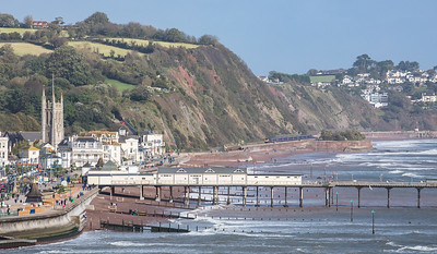 211017  FGW HST set passes Sprey point and heads towardsTeignmouth with the 1C77 0930 London Paddington to Penzance