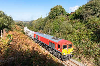 101018 ..66165 passes Foxhole with the second portion of 6P24  13:25 Parkandillack-Fowey