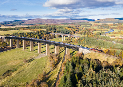 301019      66031 heads across Findhorn viaduct with the  4D47  13:07 Inverness-Mossend