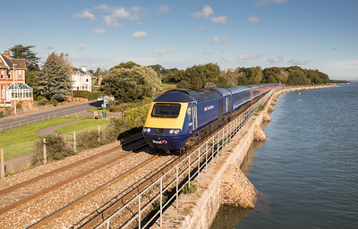 220917  43010 is about to pass Starcross and  heads the 1C73 0706 London Paddington to Penzance