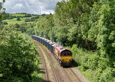080619  ,66127 heads east at Respryn with the 6C12   11:20 Burngullow-Exeter Riverside