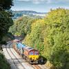 091015. 66138 TnT 66061 head upgrade to Milltown with the 3J13  MWFO 08:45 Westbury-St.Blazey