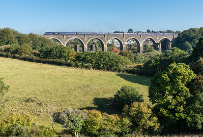 101018, FGW 125 heads across Moorswater viaduct