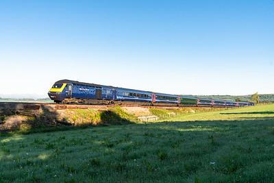 150518  FGW 125 on the 1A75 0505 Penzance to London Paddington  nears Dinaton