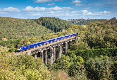 051017  FGW HST heads over Saint Pinnock viaduct with the 1C77 1006 London Paddington to Penzance