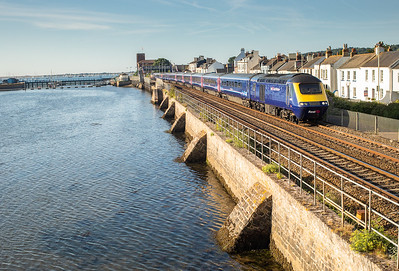 250718  .43190 leads FGW 125 past Starcross with the 1A75 0505 Penzance to London Paddington