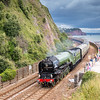 """230717  60163 """"Tornado"""" passses Skew bridge on the approach to Teignmouth with the 1Z27 <br /> 0910 Bristol Temple Meads to Kingswear (For Dartmouth)"""