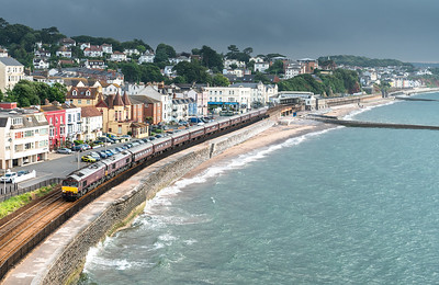100718   66746 + 66743  pass Dawlish with the 1Z80 0420 Gloucester - Newton Abbot