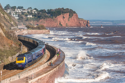 181118  FGW 125 with 43088  leading passes Teignmouth with the 1C77 0957 London Paddington to Plymouth