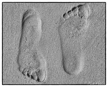Foot Print - 1st Place Mono South Lake Art League Photo Contest 2014