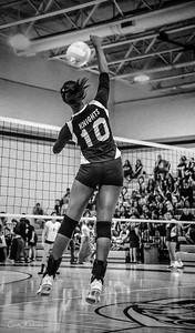 ERHS Volleyball kill shot