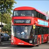 Arriva London 'New Routemaster', LT967 (LTZ2167), eases away from its Cumberland Gate stand and heads for Park Lane, at the commencement of another route 137 journey to Streatham Hill (Telford Avenue) – 25 October 2017.