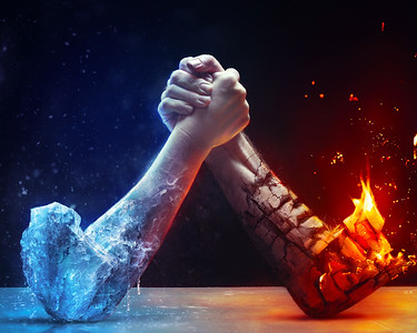 Battle between fire and ice