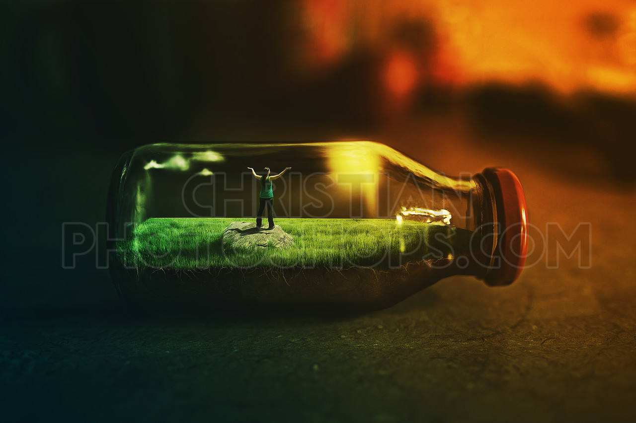 Stuck in a bottle
