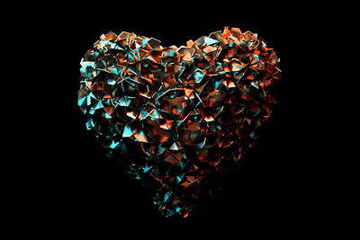 Abstract 3D Heart Illustration