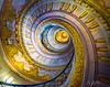 Staircase in the Benedictine Abby. Melk, Austria
