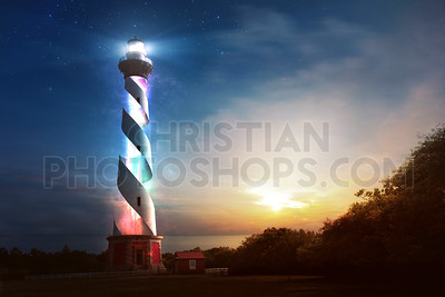 Colorful lighthouse